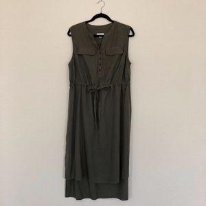 Liz Lange Maternity Sleeveless Dress in Army Green